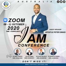 CHURCH CONFERENCE Message Instagram template