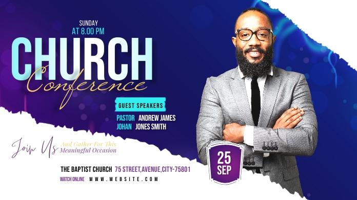 Church Conference Publicación de Twitter template