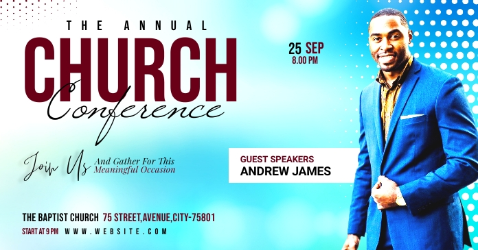 Church Conference Obraz udostępniany na Facebooku template