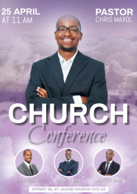 church conference A4 template