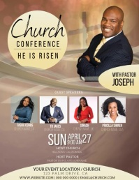 church conference Event Flyer Template ใบปลิว (US Letter)