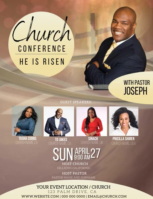 church conference Event Flyer Template Folder (US Letter)