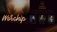 Church Conference Facebook Video Cover template