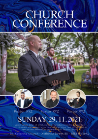 Church Conference Faith Worship Event Flyer