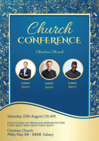 Church Conference Faith Worship Event Flyer