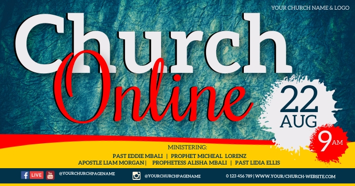 CHURCH CONFERENCE FAMILY AND FRIENDS TEMPLATE Obraz udostępniany na Facebooku