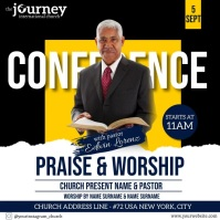 CHURCH CONFERENCE FAMILY AND FRIENDS TEMPLATE Vierkant (1:1)