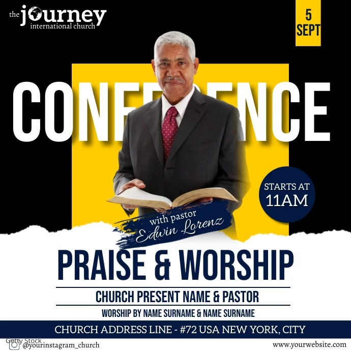 CHURCH CONFERENCE FAMILY AND FRIENDS TEMPLATE Kwadrat (1:1)