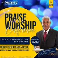 CHURCH CONFERENCE FAMILY AND FRIENDS TEMPLATE Persegi (1:1)