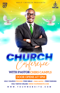 Church Conference flyer Tablóide template