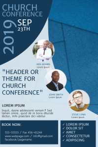 Church Conference Flyer Design Template
