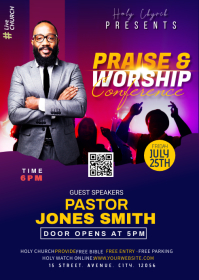 Church Conference flyer A6 template