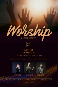 Church Conference Flyer Plakat template