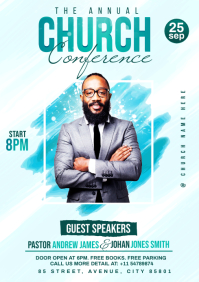 Church Conference flyer A4 template