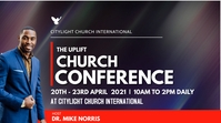 church CONFERENCE flyer Digitalanzeige (16:9) template