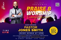Church Conference flyer Label template