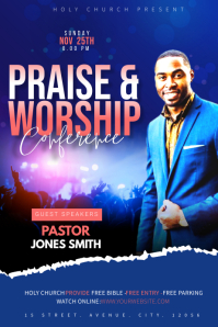 Church Conference flyer Banner 4' × 6' template