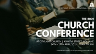 CHURCH CONFERENCE flyer Tampilan Digital (16:9) template