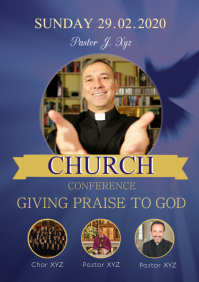 Church Conference Flyer Pastors Event Sunday