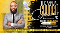 Church Conference Flyer Template Twitch Banner