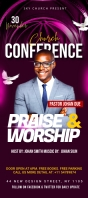 Church Conference Flyer Template Rack Card
