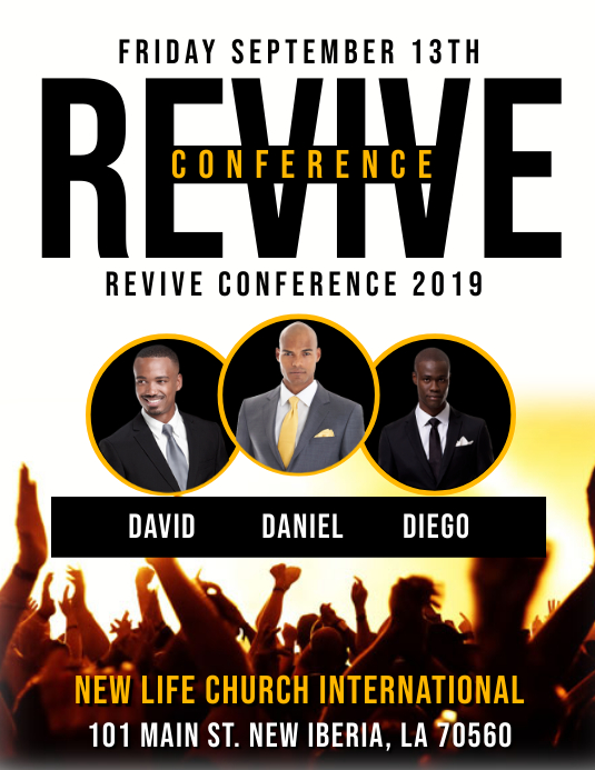 CHURCH CONFERENCE FLYER TEMPLATE