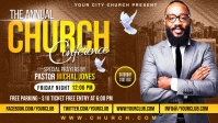 Church Conference Flyer Template Facebook Cover Video (16:9)