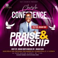Church Conference Flyer Template ปกอัลบั้ม