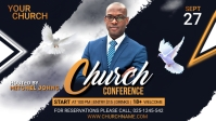 Church Conference Flyer Template Facebook-Covervideo (16:9)