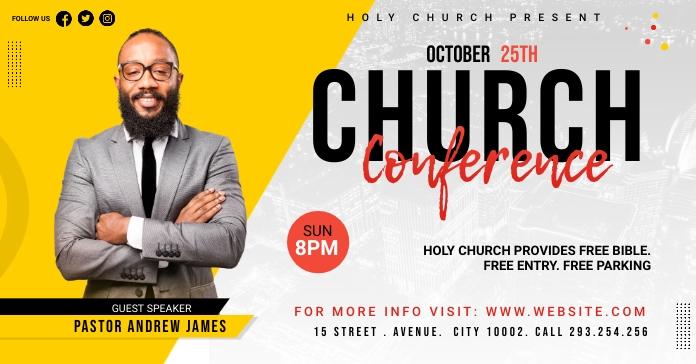 Church Conference Flyer Template Рекламное объявление Facebook