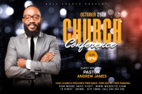 Church Conference Flyer Template Spanduk 4' × 6'