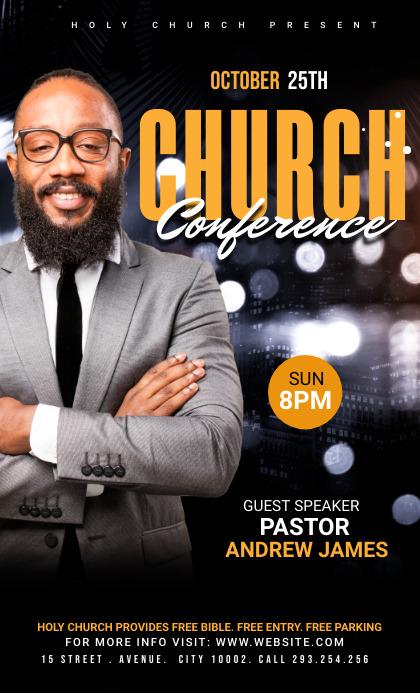 Church Conference Flyer Template Oficio US