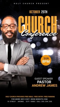 Church Conference Flyer Template Digital Display (9:16)