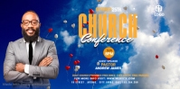 Church Conference Flyer Template Vídeo de portada de Facebook (16:9)