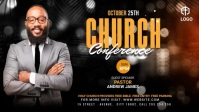 Church Conference Flyer Template Video Sampul Facebook (16:9)