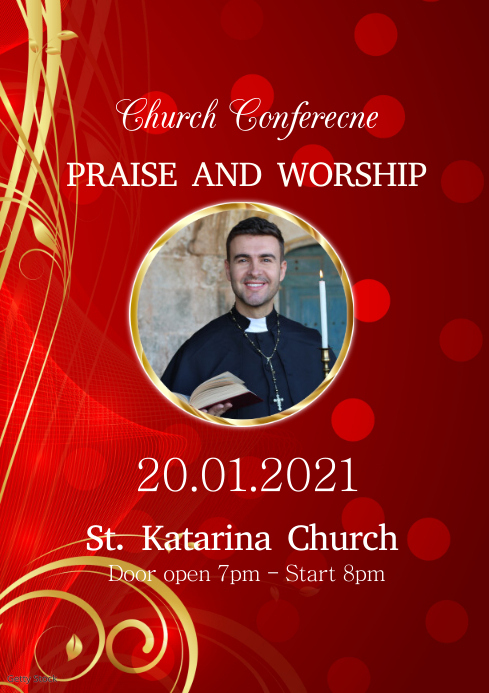 Church Conference Gospel Event Music Events A4 template