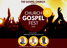 CHURCH CONFERENCE GOSPEL FLYER