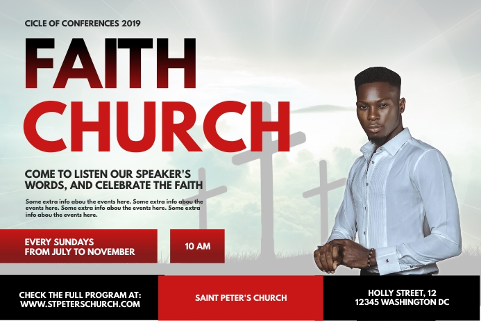Church Conference Invitation Poster
