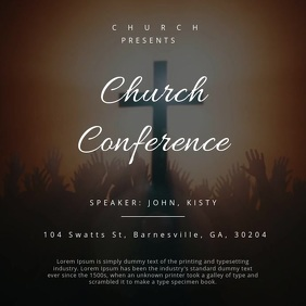 CHURCH CONFERENCE MOTION POSTER