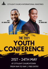 CHURCH CONFERENCE POSTER A3 template