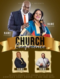 Church Conference Service Flyer Template