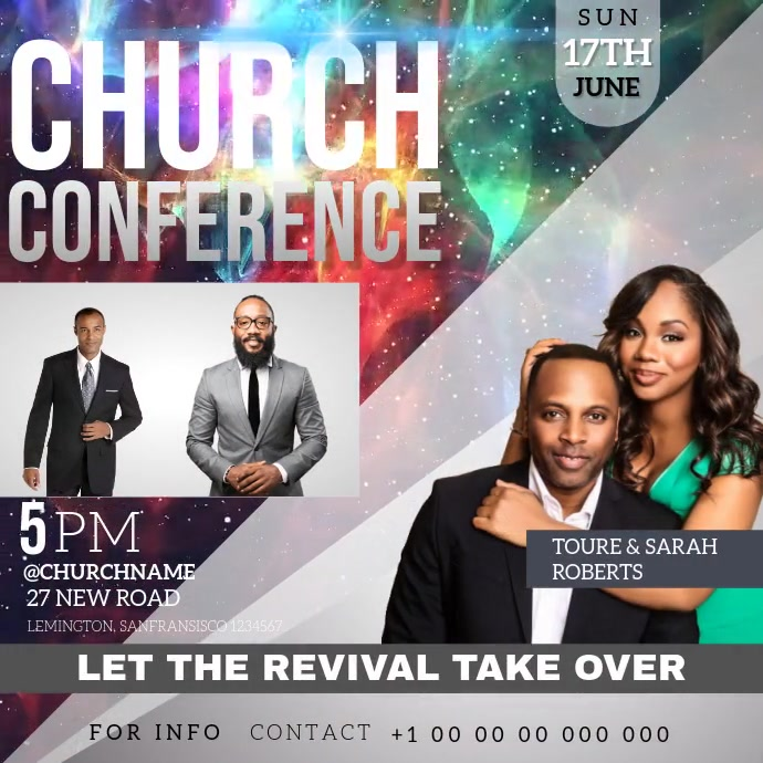 CHURCH CONFERENCE SQUARE VIDEO TEMPLATE 方形(1:1)