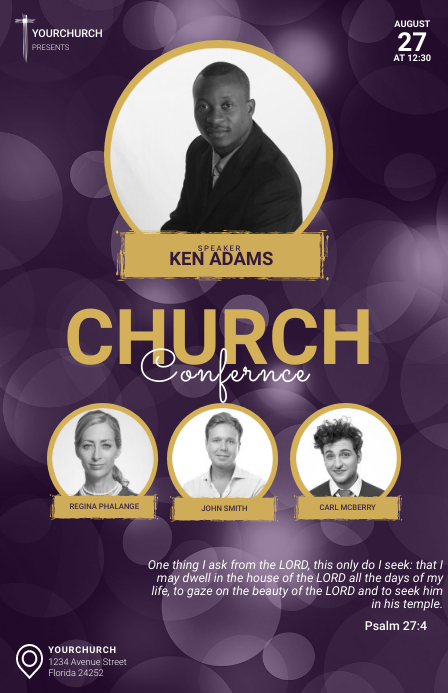 Church Conference Tabloid Template