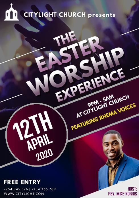 church CROSSOVER event flyer