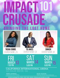 Church Crusade Flyer Template Pamflet (Letter AS)