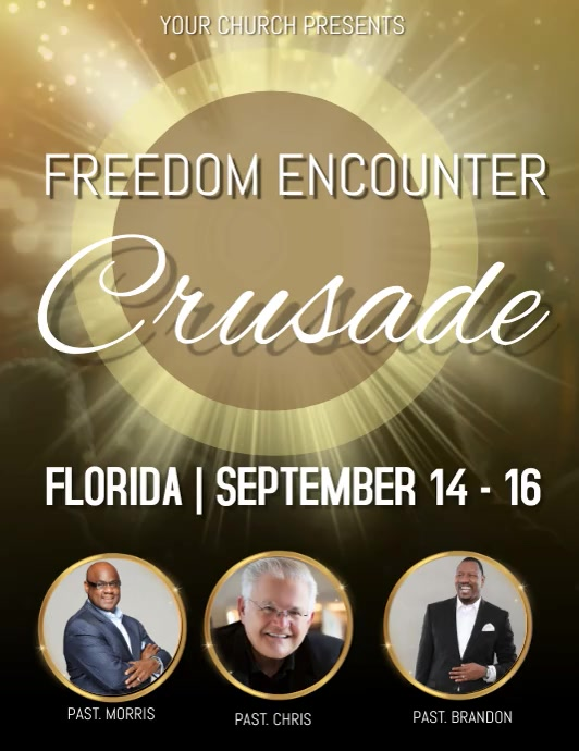 Church Crusade Video Flyer Template