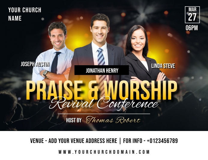 Church Flyer (Letter pang-US) template