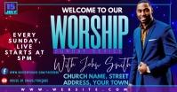 church Umkhangiso we-Facebook template
