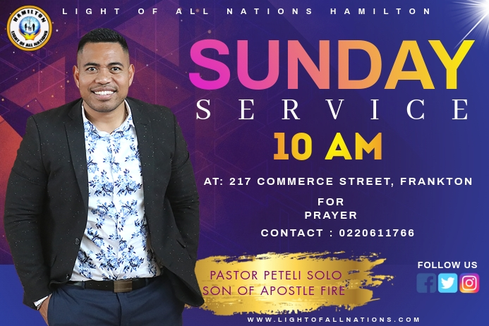 Church Banner 4 x 6 fod template