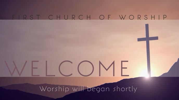 Church Display Welcome Video Pantalla Digital (16:9) template